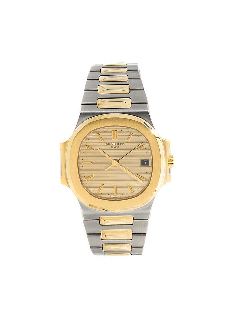 Patek Philippe Nautilus 2-Tone in Steel with Yellow Gold Bezel