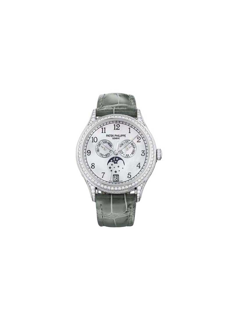 Patek Philippe Annual Calendar 4948 in White Gold with Diamond Bezel