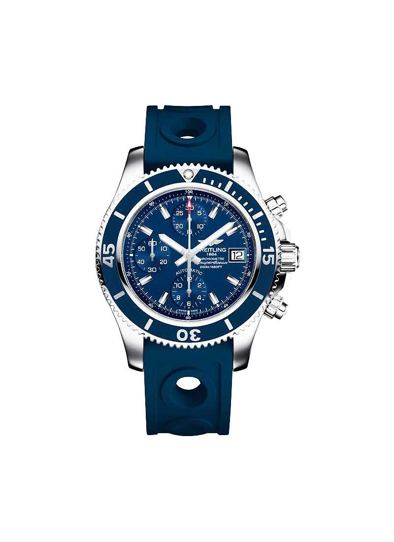 Breitling Breitling Superocean Chronograph 42 in Steel with Blue Bezel