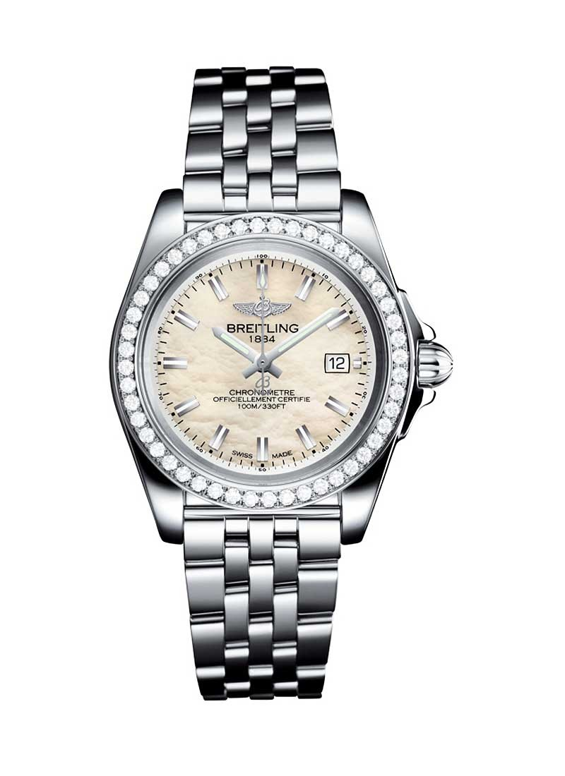 Breitling Galactic 32 Sleek Edition in Steel with Diamond Bezel