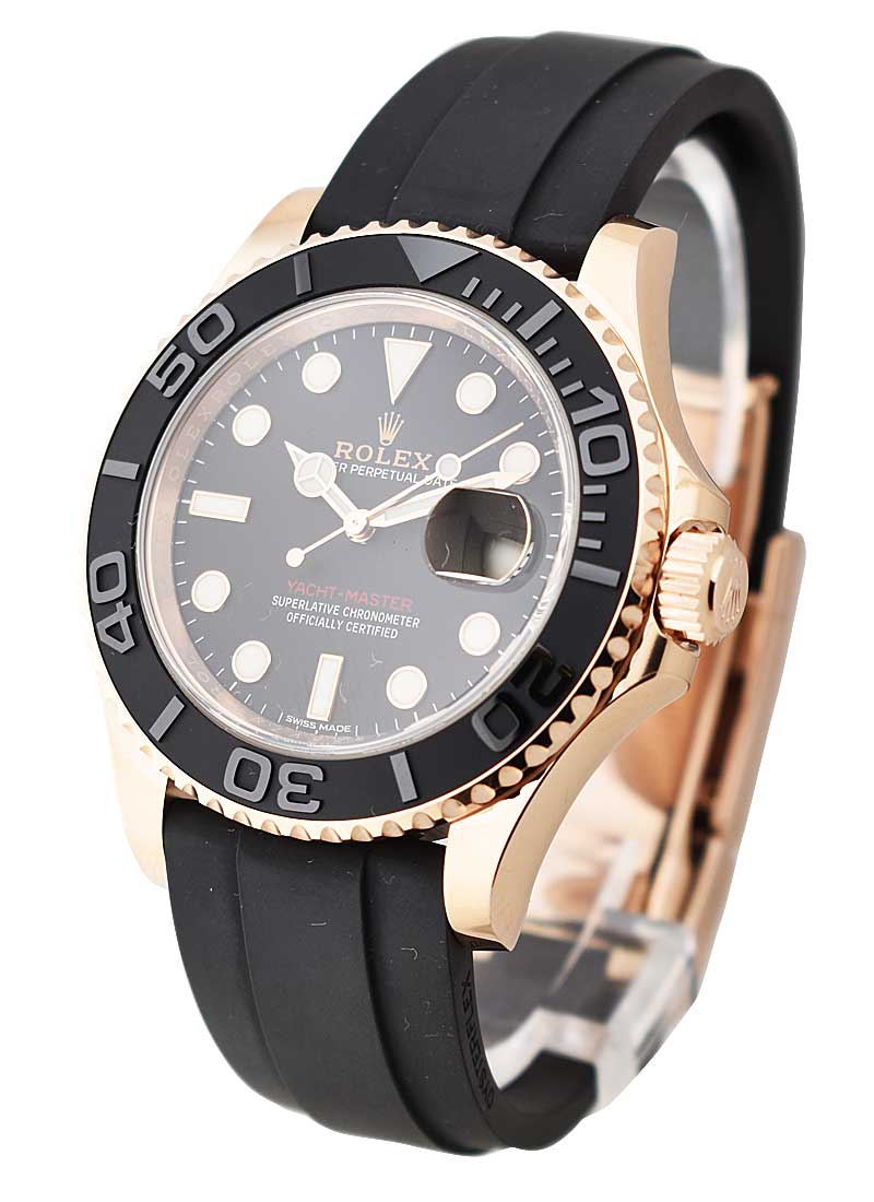 Pre-Owned Rolex Yacht Master 40mm in Rose Gold with Ceramic Bezel