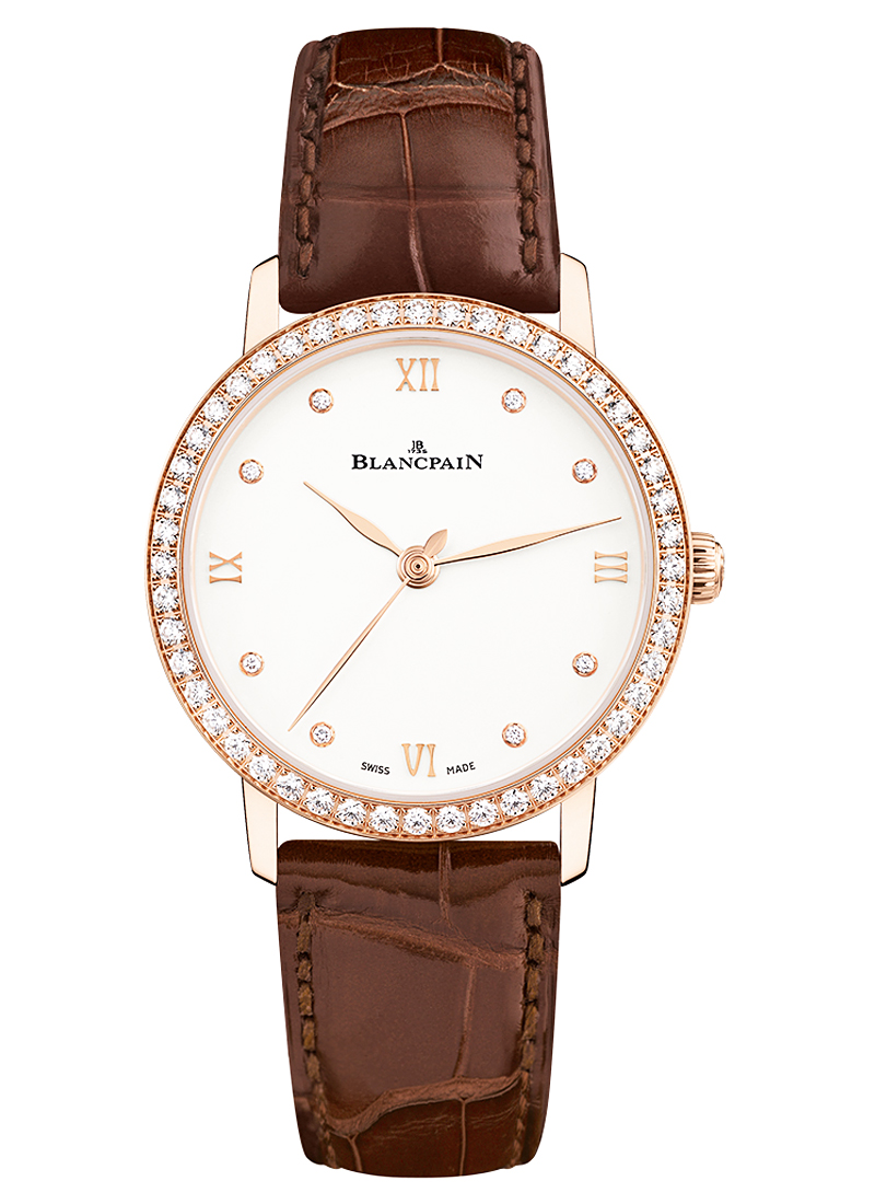 Blancpain Villeret Ultra-Slim in Rose Gold with Diamond Bezel