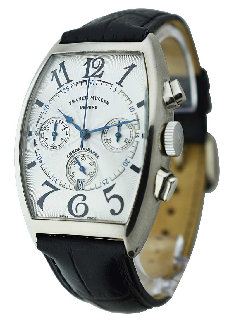 Franck Muller Tonneau Curvex Chronograph in White Gold
