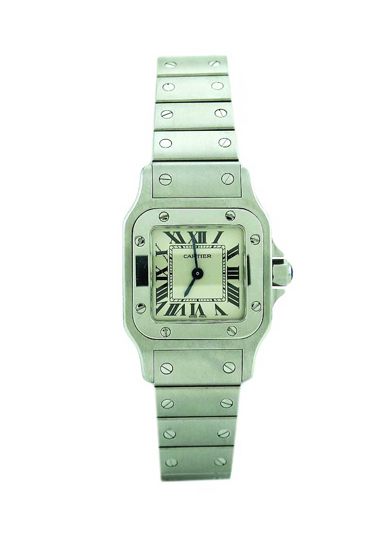 Cartier Santos Galbee Large Size in Steel