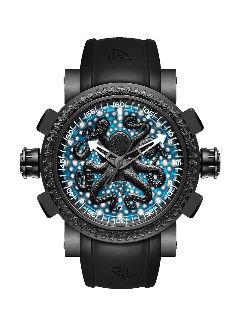 Romain Jerome Deep Blue Octopus 47mm in Black PVD