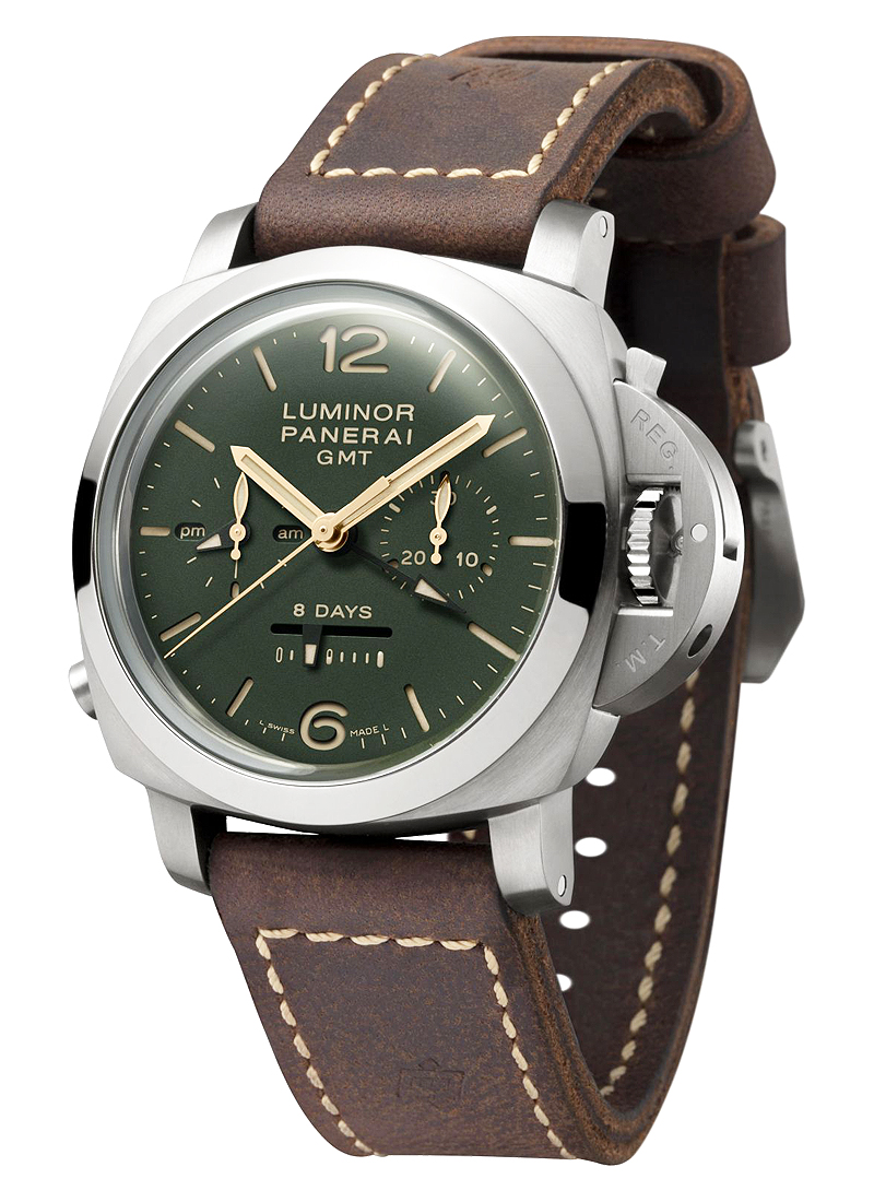Panerai PAM 737 - 1950 Chrono Monopulsante 8-Days GMT in Titanium