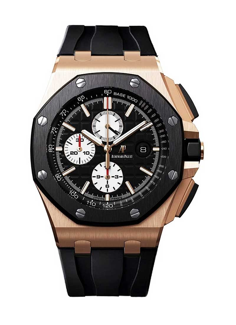 Audemars Piguet Royal Oak Offshore Chronograph in Rose Gold with Black Ceramic
