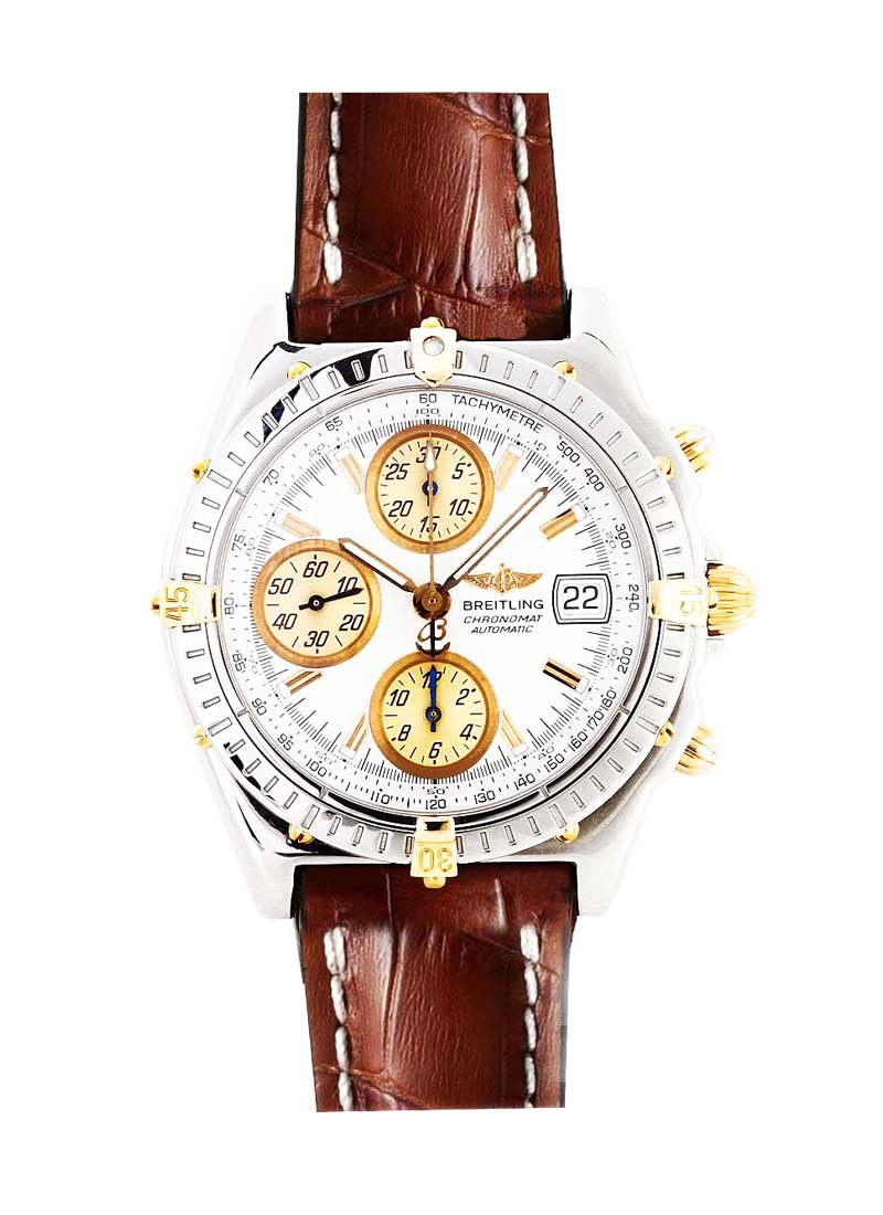 Breitling Chronomat Evolution in Steel with Yellow Gold Lugs