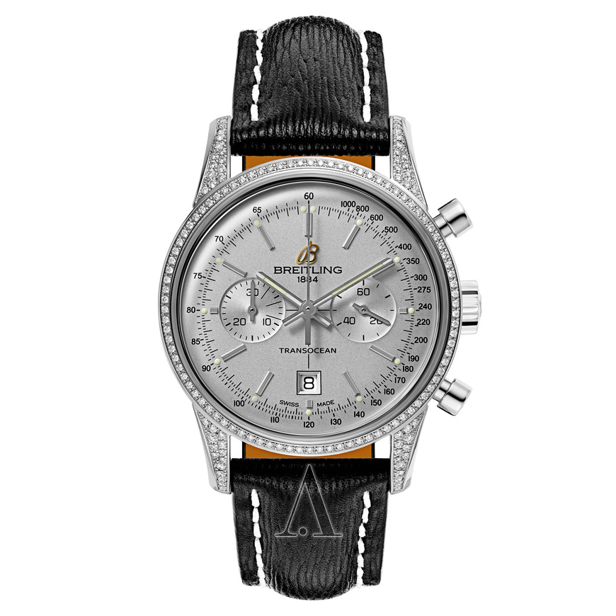 Breitling Transocean Chronograph 38mm in Steel with Diamond Bezel