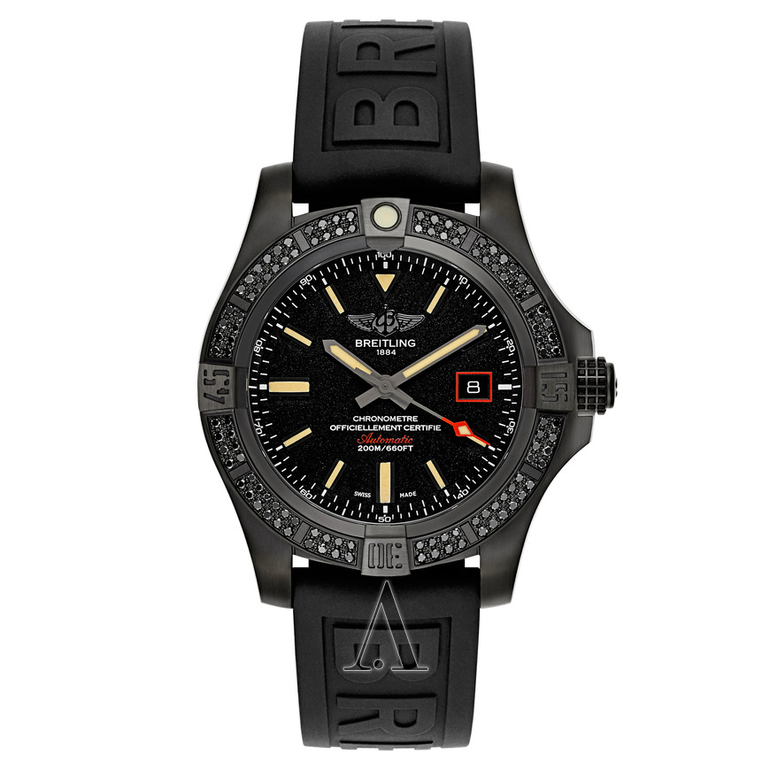 Breitling Avenger Blackbird 44 in Black Titanium with Black Diamond Bezel