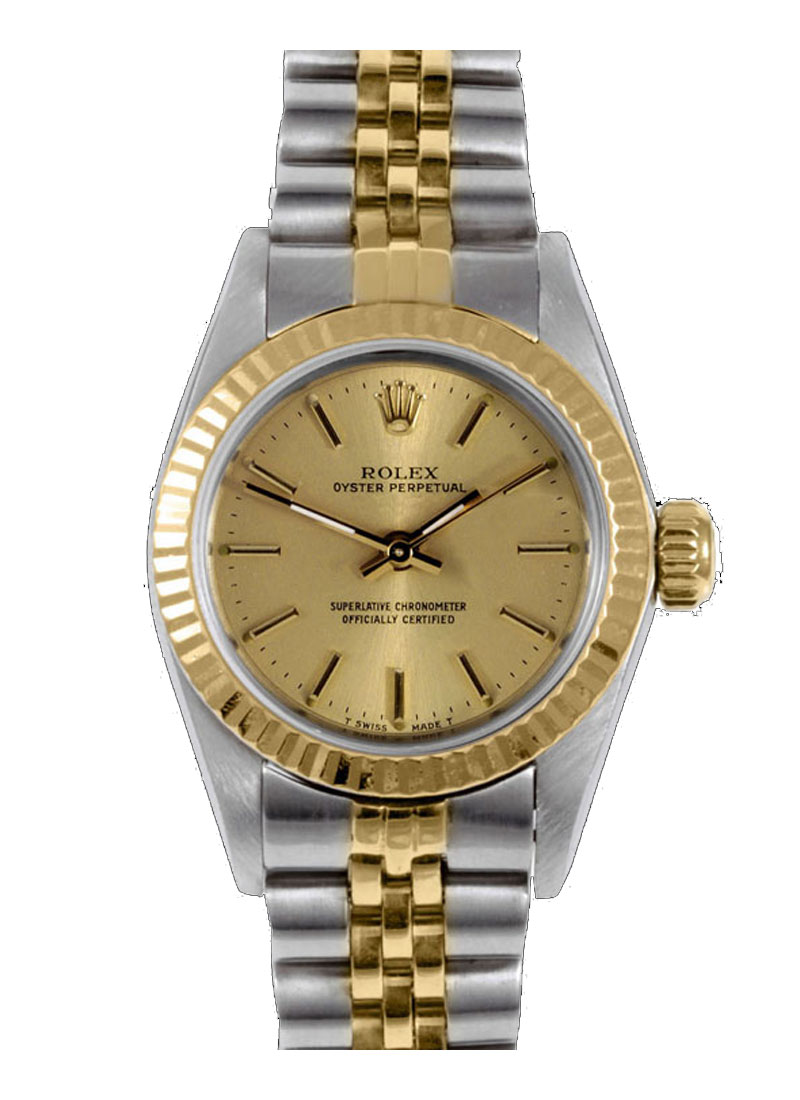 Pre-Owned Rolex Ladies Oyster Perpetual 24mm - Fluted Bezel