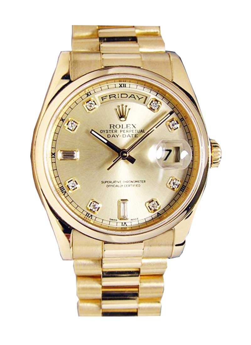 Pre-Owned Rolex DayDate - President - Yellow Gold - Smooth Bezel