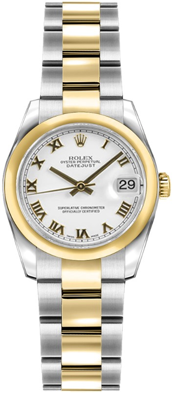 Rolex Used Datejust 26mm in Steel with Yellow Gold Domed Bezel