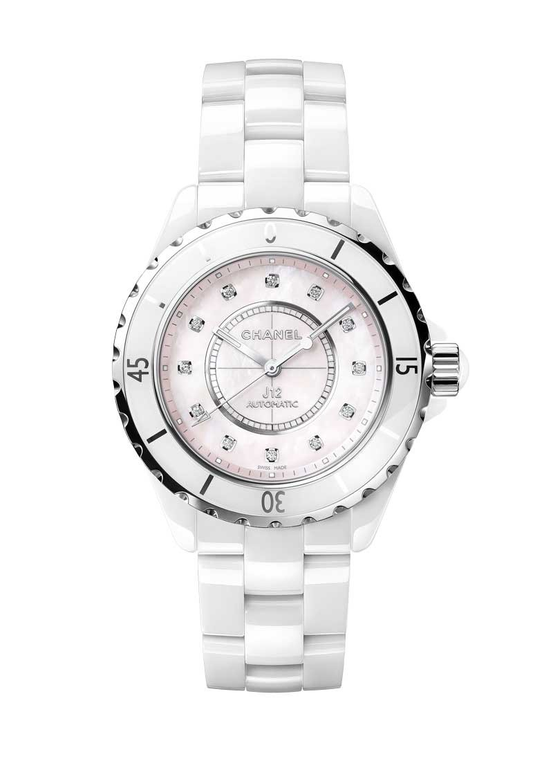 watches chanel watch image collection white ref ceramic swiss quartz