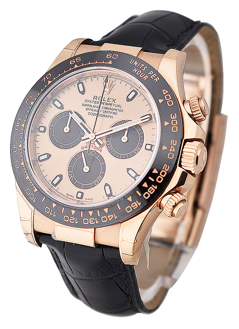 Pre-Owned Rolex Daytona 40mm in Rose Gold with Black Ceramic Bezel