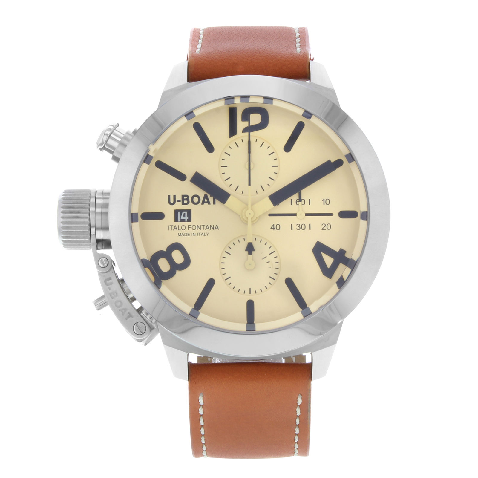 U-Boat Classico Chronograph Date 45mm Automatic in Stainless Steel