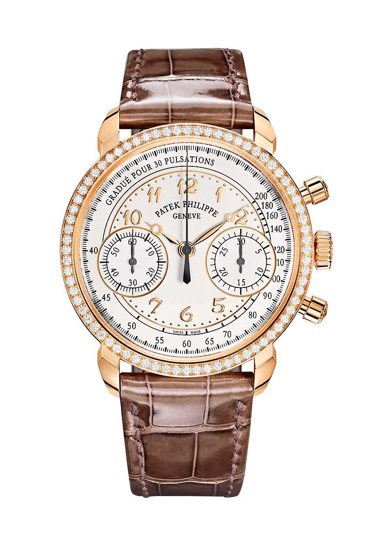 Patek Philippe Ladies Chronograph Ref 7150 with Diamond Bezel