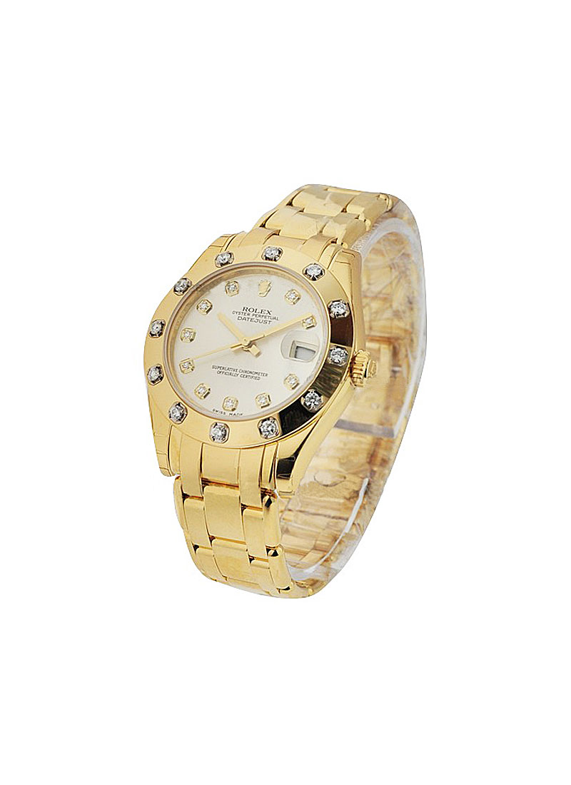 Pre-Owned Rolex Masterpiece Lady's with Yellow Gold 12 Diamond Bezel