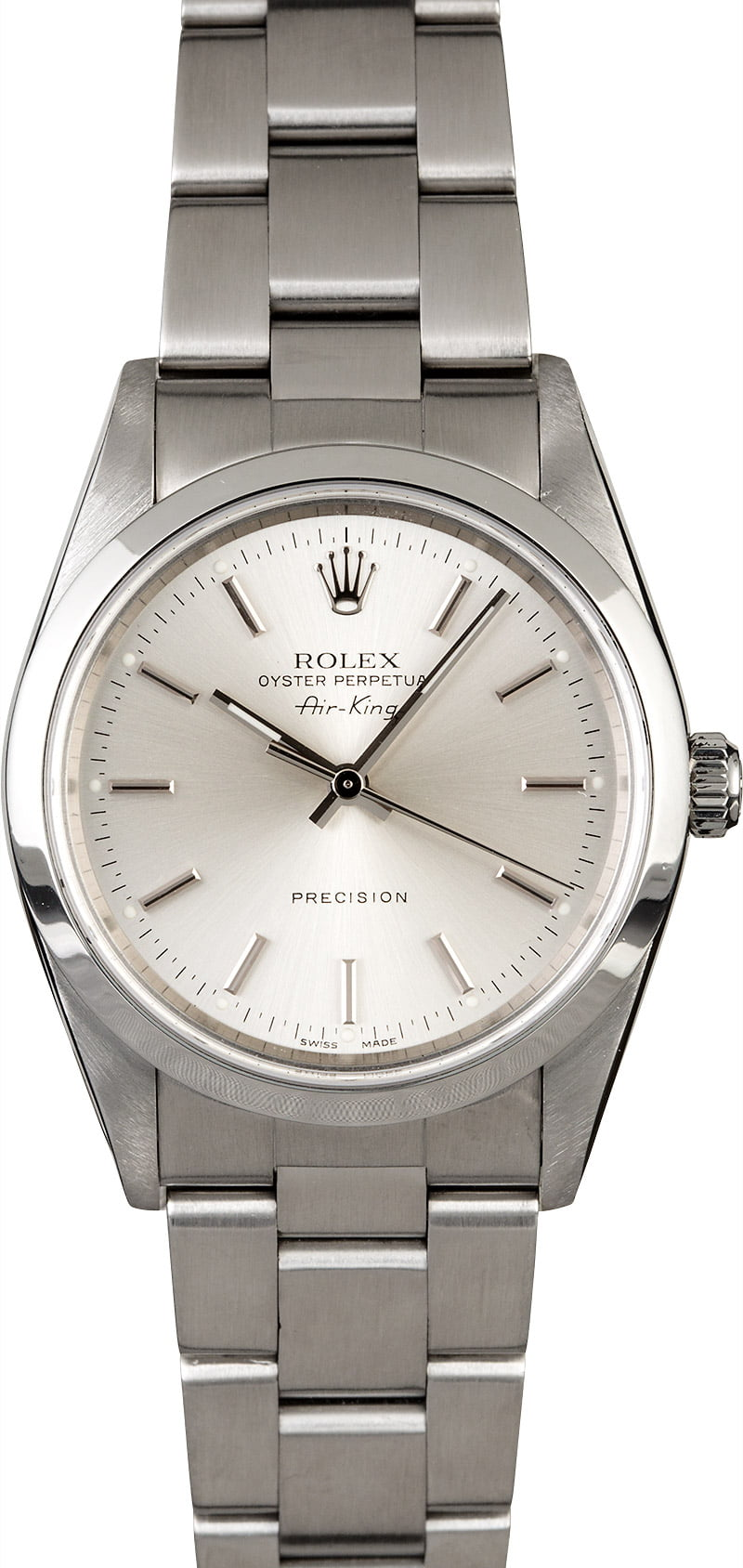 Rolex Used Air King in Steel with Domed Bezel