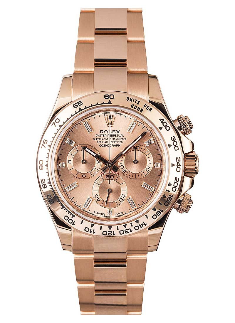 Pre-Owned Rolex Daytona 40mm in Rose Gold with Engraved Bezel