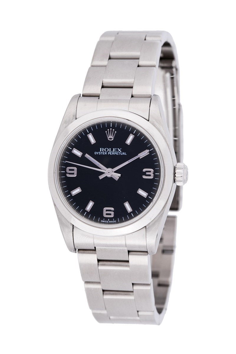 Pre-Owned Rolex Oyster Perpetual No Date in Steel with Domed Bezel