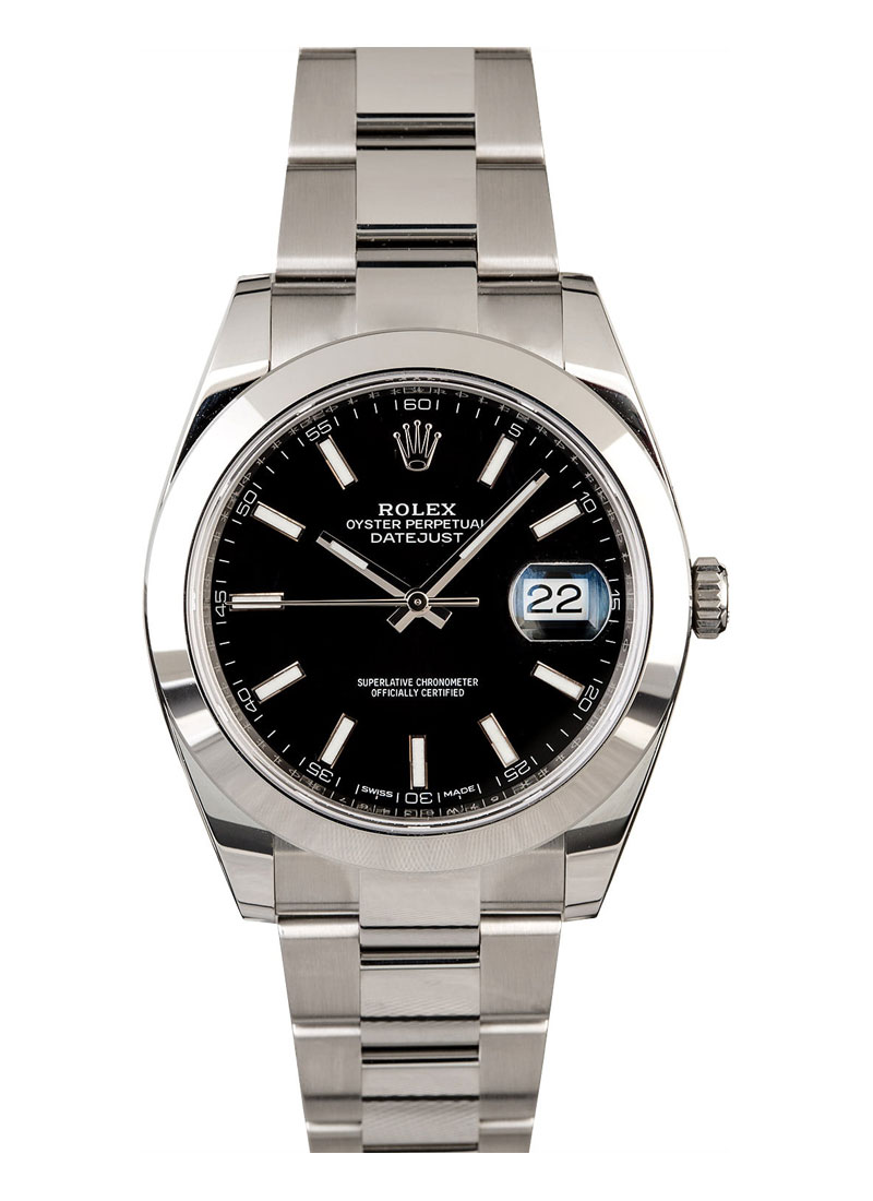 Pre-Owned Rolex Datejust 41mm in Steel with Smooth Bezel