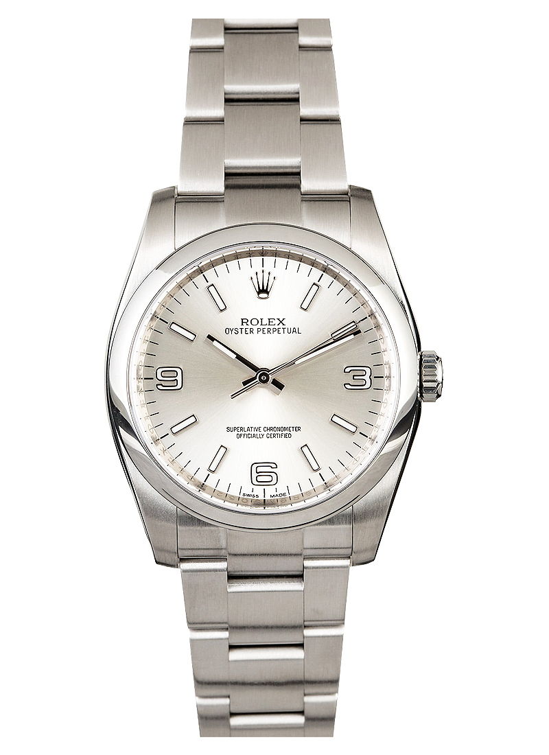 Pre-Owned Rolex Oyster Perpetual 36mm in Steel with Smooth Bezel