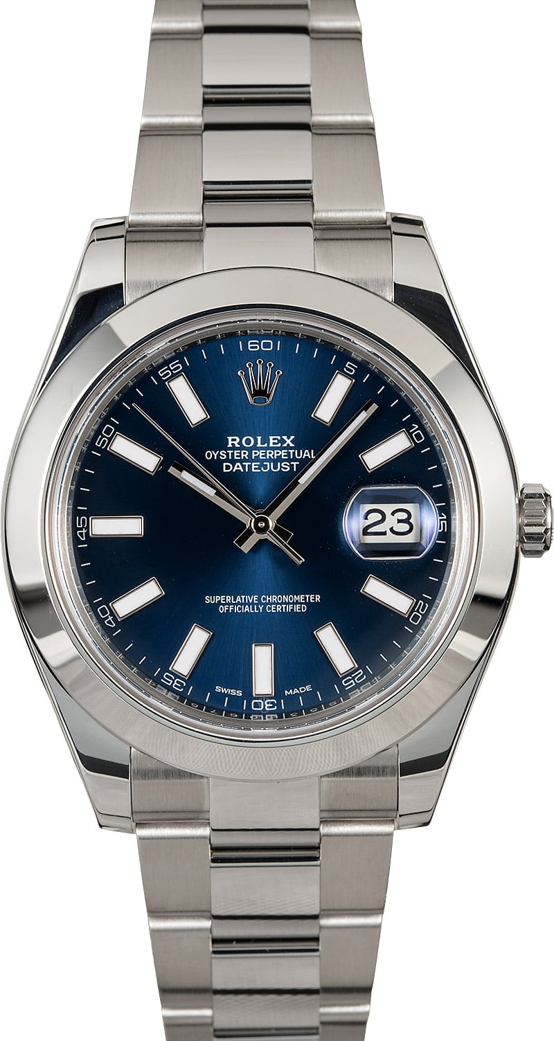 Rolex Used Datejust II - Steel - Smooth Bezel - 41mm