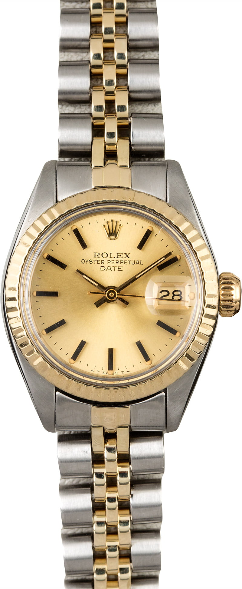 Pre-Owned Rolex Lady's 2-Tone Date 24mm - Fluted Bezel