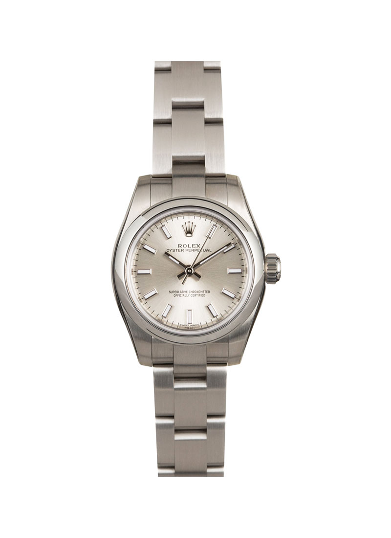 24da3819500 Pre-Owned Rolex Ladies Oyster Perpetual No Date in Steel with Smooth Bezel.  176200