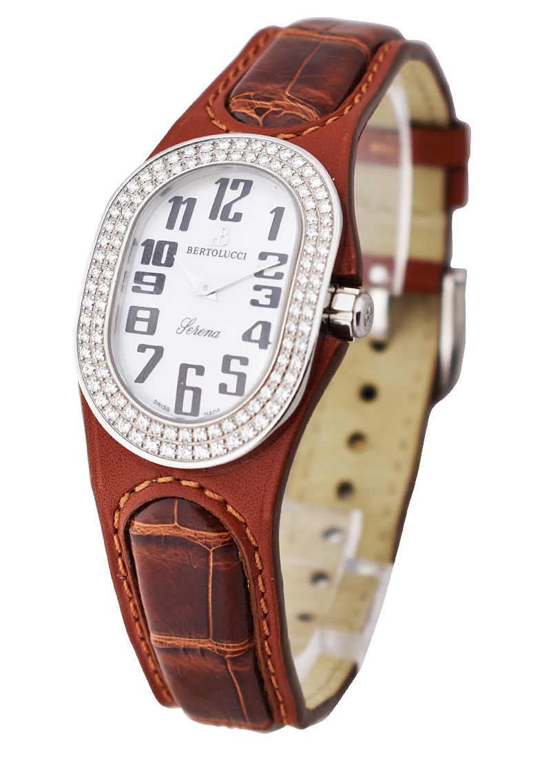 Bertolucci Serena in Steel with 2 Row Diamond Bezel