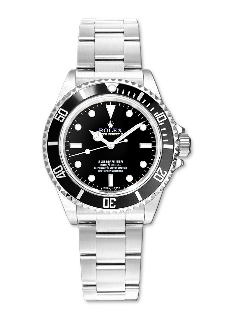 Rolex Used Submariner in Steel with Black Bezel