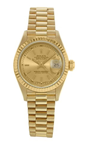 Rolex Used President 31mm in Yellow Gold Fluted Bezel