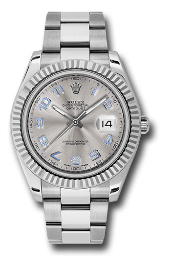 Rolex Used Datejust II - 41mm - White Gold Fluted Bezel