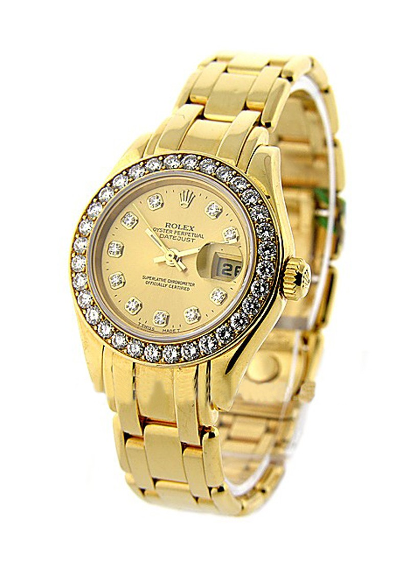 Rolex Used Masterpiece with Yellow Gold Diamond Bezel