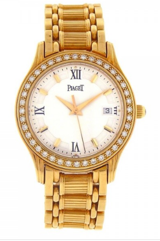Piaget Polo 26mm  in Yellow Gold With Diamond Bezel