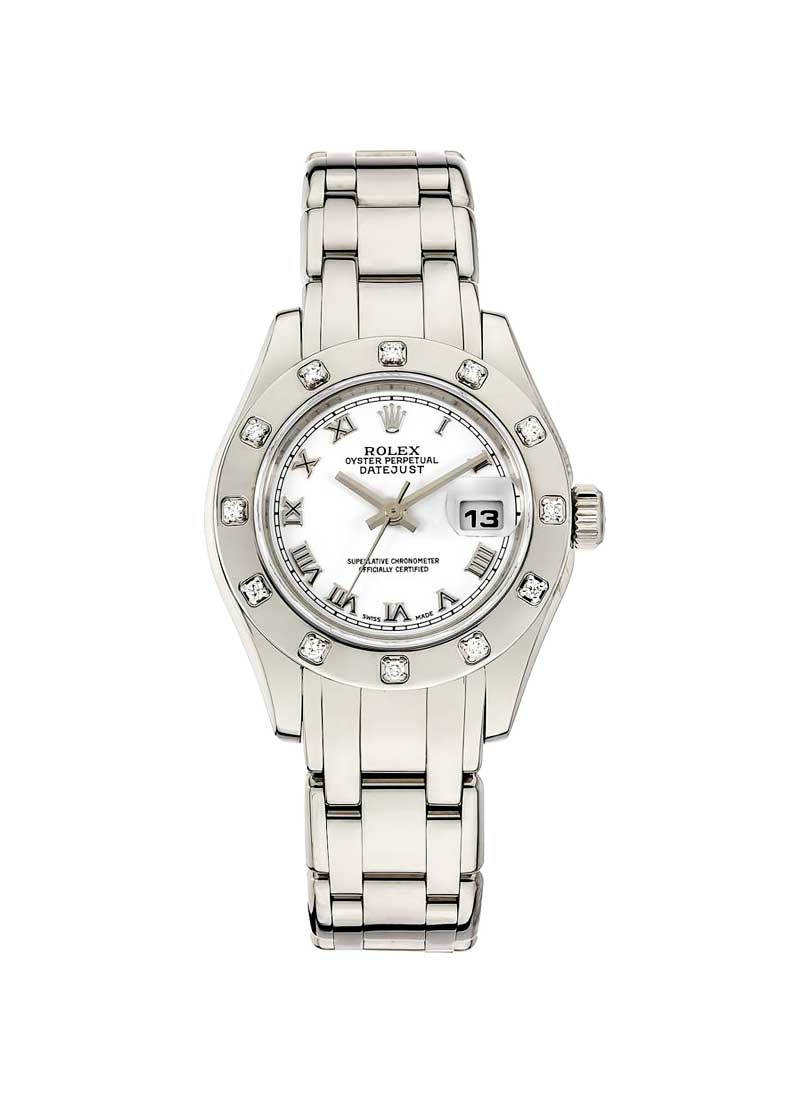Pre-Owned Rolex Masterpiece 29mm in White Gold with 12 Diamond Bezel