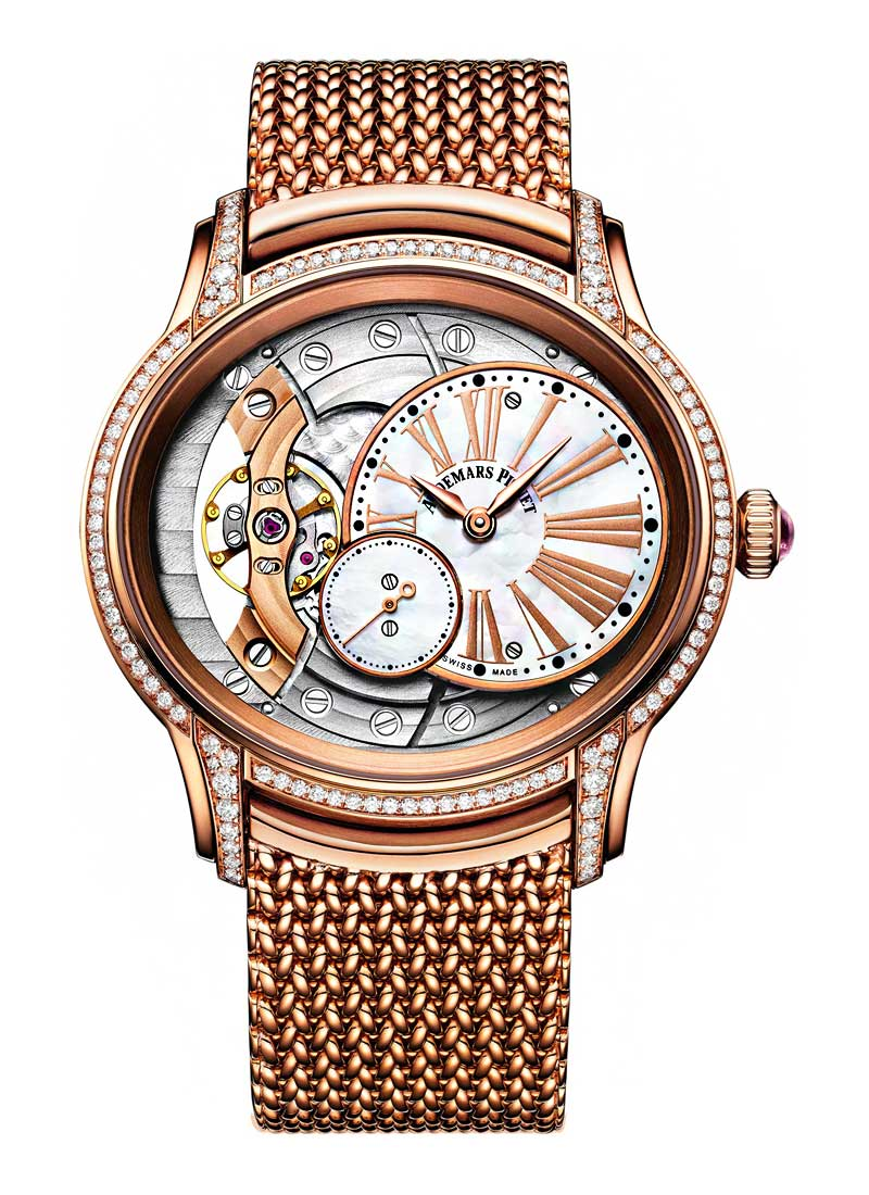 Audemars Piguet Millenary 39.5mm in Rose Gold with Diamond Bezel & Lugs