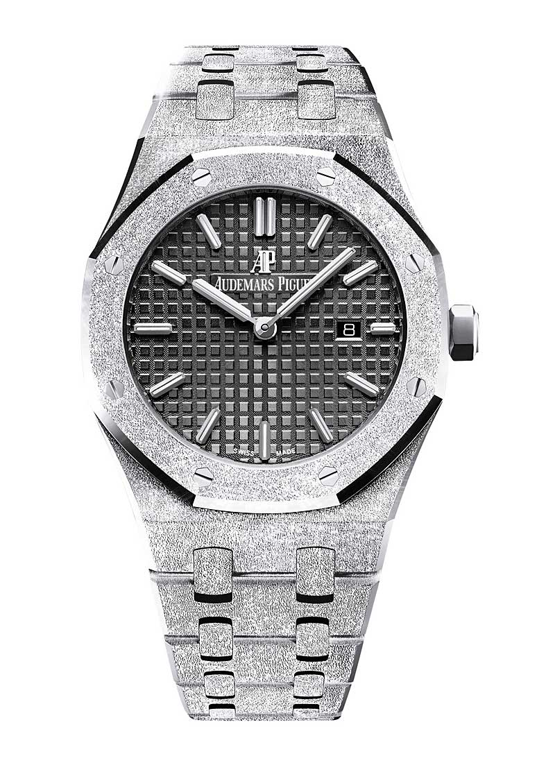 Audemars Piguet Ladies Royal Oak 33mm in Frosted White Gold