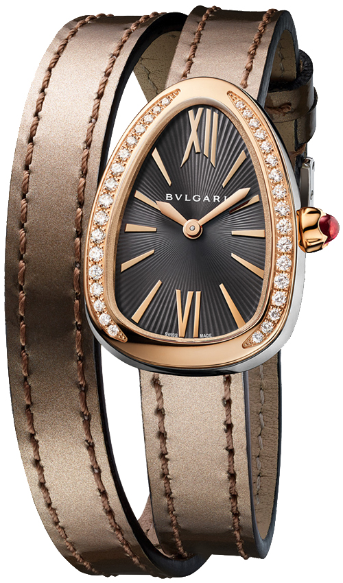 Bvlgari Serpenti 27mm in Rose Gold with Diamond Bezel