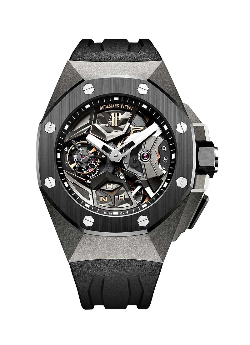 Audemars Piguet Royal Oak Concept GMT Tourbillon in Titanium with Ceramic Bezel
