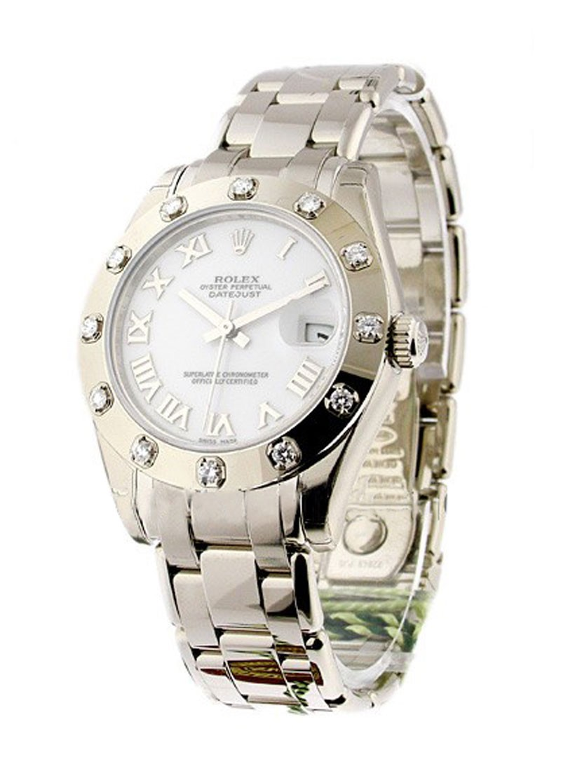 Pre-Owned Rolex Masterpiece Midsize - White Gold - Diamond Bezel
