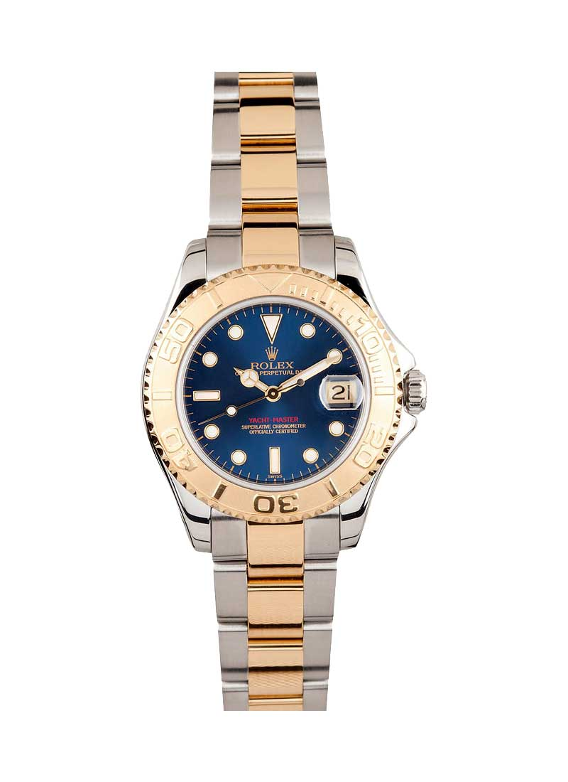 Pre-Owned Rolex Yacht-Master Mid Size 35mm in Steel with Yellow Gold Bezel