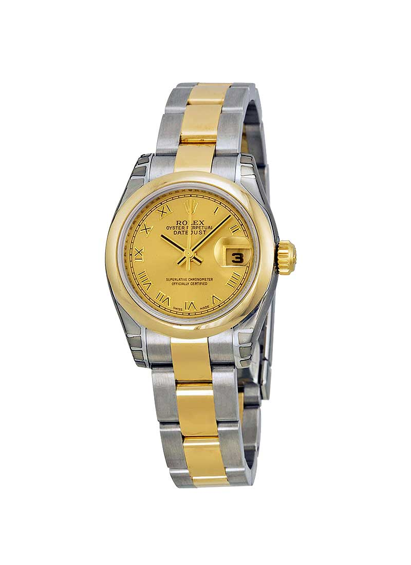 Pre-Owned Rolex Datejust 26mm lady's In Steel with Yellow Gold Domed Bezel
