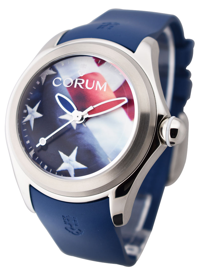 Corum Bubble US Flag 47mm in Stainless Steel - Limited Edition to 88 pcs.