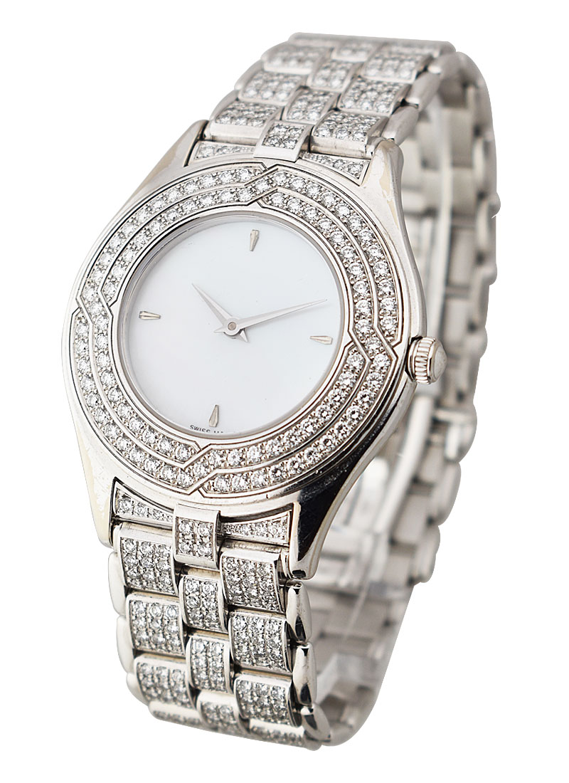 Mauboussin 34mm Full Pave Diamond Bracelet in White Gold