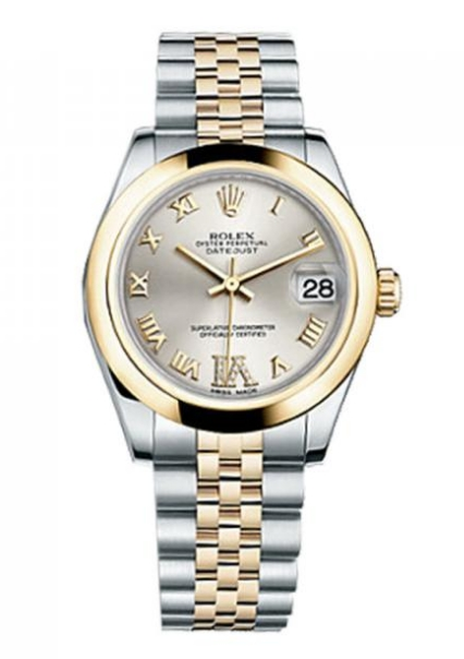 Rolex Unworn Mid Size 2-Tone DateJust 31mm in Steel with Yellow Gold Smooth Bezel