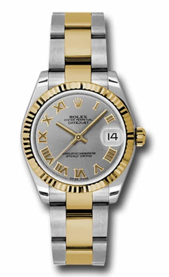 Rolex Used Datejust - Steel with Yellow Gold - Fluted Bezel