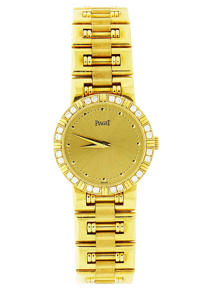 Piaget Dancer Round Lady's in Yellow Gold with with Diamond Bezel