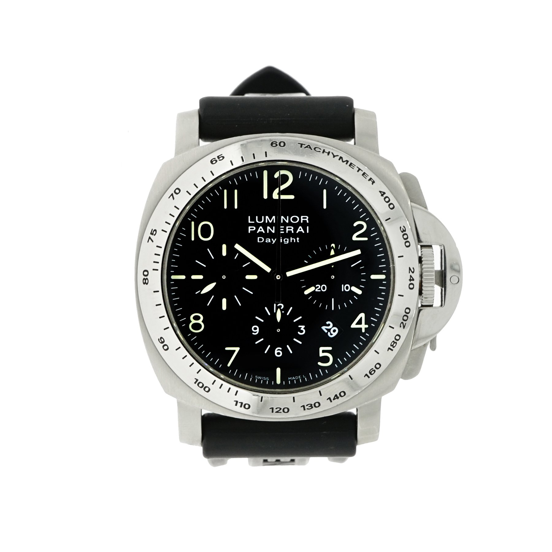 Panerai PAM 250 - Luminor Daylight Chronograph in Brushed Steel